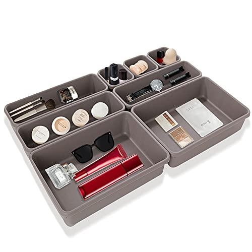 8 pcs Schubladen Organizer,Waschbare Aufbewahrungsbox,Bade Make-up Organizer,Multifunktional Aufbewahrungsbox,Büro & HomeAufbewahrungsbox,Aufbewahrungsbox für Zuhause