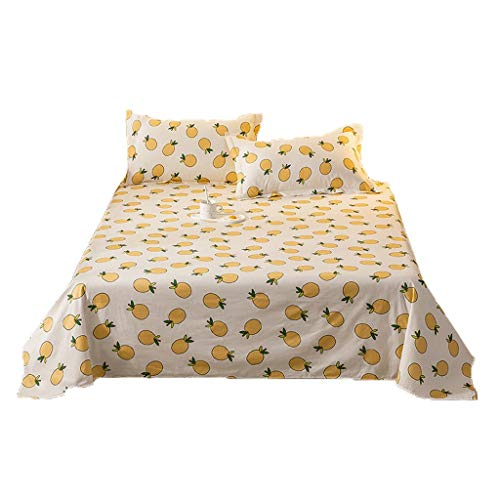 XXT Modestars Bettlaken, Bettwäsche Doppel, Blatt, Baumwollbettlaken Einzelstück Doppel Simple Girl Studenteneinzelschlaf Bett aus Reiner Baumwolle Bettbezug (Gray) Textil