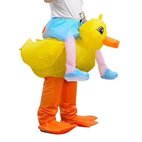lem Costume Gonfiabile di Halloween della Tuta della Rana Gonfiabile degli Uomini della Mascotte dell'anatra Adulta