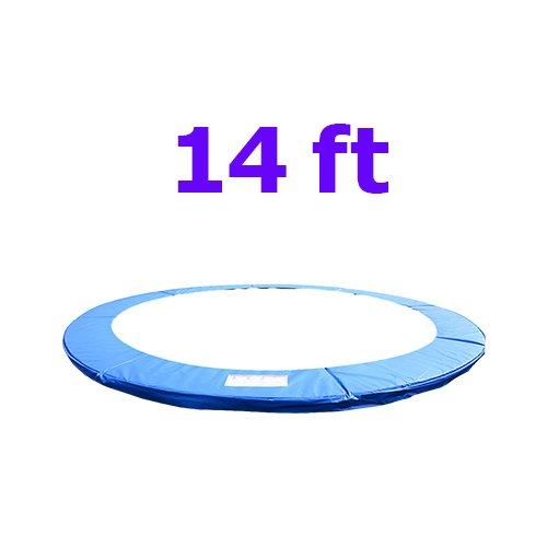 Greenbay 14FT Replacement Trampoline Pad Foam Safety Guard Spring Cover Padding Blue (Pad width: 300mm)
