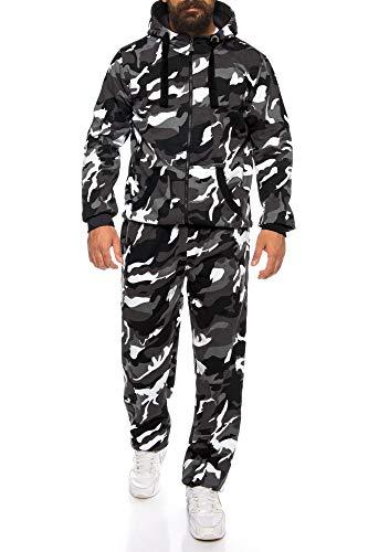 Finchman Finchsuit 1 Herren Jogging Anzug Trainingsanzug Sportanzug FMJS135, Camo Grau, L