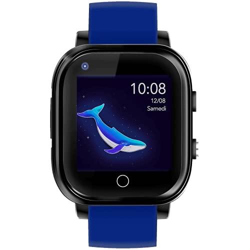 Infinite Watch - iKids - Montre connectée Enfant - 4G - GPS précis - Thermomètre intégré (Bleu)
