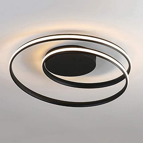 NXYJD Lámpara de araña de Techo Led Moderna para Dormitorio, Sala de Estudio, Cocina, Creatividad, hogar, lámpara Negra Regulable