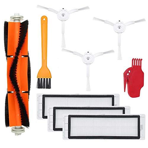 Kit De Piezas De Repuesto Compatible para Xiaomi MIJIA ROBOROCK Series Vacuum Cleaner Parte, Incluido El Cepillo Principal, El Cepillo Lateral, El Filtro HEPA, La Herramienta De Limpieza