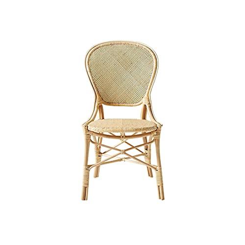 HFVDA Wohnzimmer Lounge Chair, Rattan Sessel, Single Sofa Stuhl, Heimstuhl, komfortabler Make-upstuhl, Studienzimmer Lesestuhl