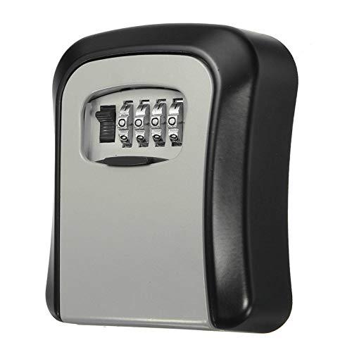 Key BoxSafe - Caja de seguridad para exteriores con cerradura de combinación de bloqueo, combinación de seguridad