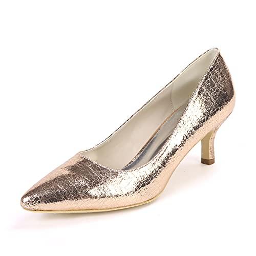 Sencillez Zapatos de Boda, Zapatos de Tacón para Mujer Material de PU...