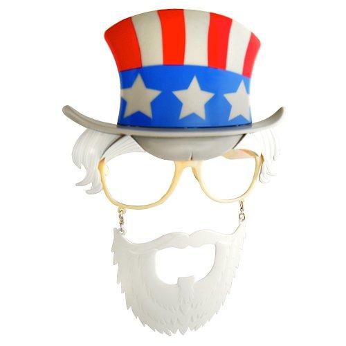 Costume Sunglasses Uncle Sam Sun-Staches Party Favors UV400