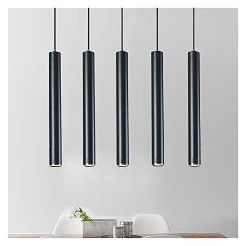 YSVSPRF Lámpara cilíndrica de araña LED del norte de Europa, para cocina, comedor, dormitorio, lámpara de tubo largo, decoración para colgar muebles y accesorios del hogar