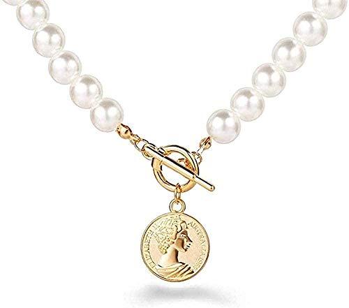 LKLFC Necklace for Women Men Necklace Multi-Layer Lock Portrait Pendant Necklace Women Gold Metal Heart-Shaped Key Necklace Design Jewelry GiftPendant Necklace Girls Boys Gift