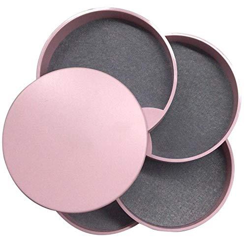 Teller Rotierende Schmuckschatulle Ring Ring Ohrstecker Halskette Aufbewahrungsbox Desktop Multilayer Portable Jewelry Rack Pink