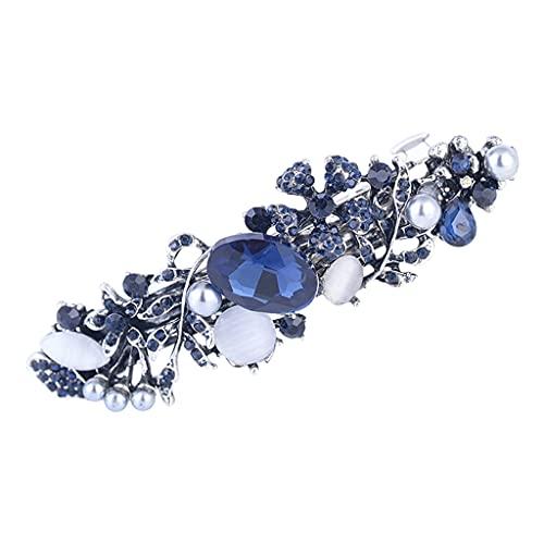 Sharplace Pinza de Pasador para El Cabello Clip de Joyería Elegante para Mujeres de Boda - 651 Flor de perla