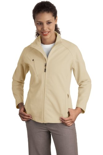 Port Authority® Ladies Textured Soft Shell Jacket. L705 Stone 4XL