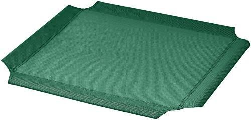 AmazonBasics Elevated Cooling Pet Bed Replacement Cover, XL, Green