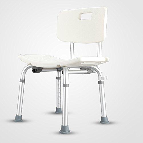QFFL Tabouret de Salle de Bains d'alliage d'aluminium/Le Tabouret de Douche d'âge mûr/antidérapant / Femme Enceinte/Chaise de Bain de Personne handicapée Tabouret d'extérieur (Taille : B)
