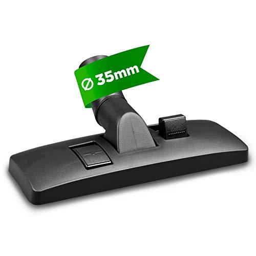 Boquilla para aspiradora de suelo, boquilla combinada, cepillo de 35 mm de diámetro para aspiradoras Bosch, Philips, Siemens, Miele, Samsung, Dirt Devil Panasonic, suelos duros y alfombras
