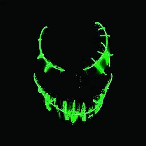 Mscara de Halloween con luz de Veneno para Halloween, Halloween, Halloween, Navidad, carnaval, festival, disfraz de cosplay