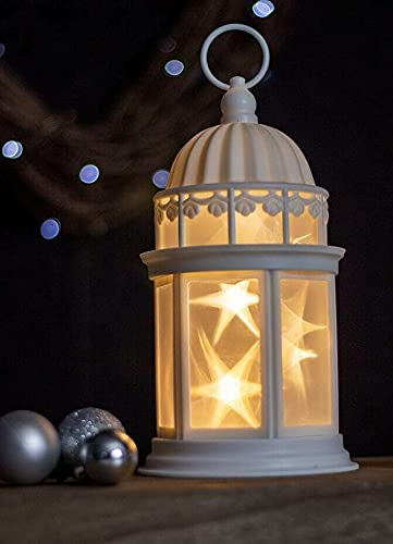 HUIJK 3D Light Up LED Lantern Battery Operated Decoration Hanging Ornament Christmas