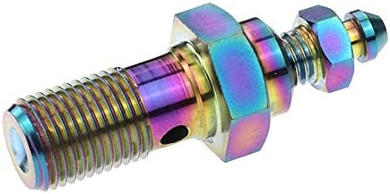 YCXFCA Motorcycle Some reservation Titanium Banjo Bolt Bleed Nipple Store M10x1.2 Screw