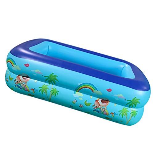CLISPEED Piscina Inflable Piscinas para Niños Centro de Natación Juguetes de Agua Al Aire Libre Juego de Diversión de Verano para Bebés Y Niños Pequeños 115X92cm