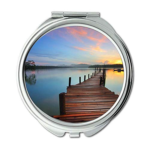 Yanteng Spiegel, Schminkspiegel, Strandpromenade Boot, Taschenspiegel, tragbarer Spiegel