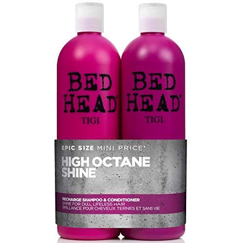 Bed Head by Tigi Recharge Shine Shampoo und Conditioner für glänzendes Haar, 750ml, 2Stück