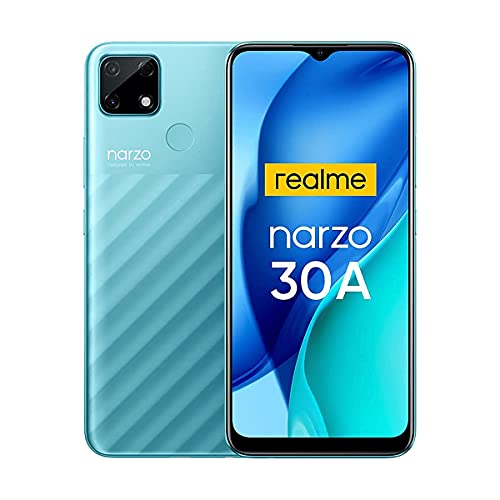"Realme Narzo 30A Smartphone Offerte Batteria Mega 6000mAh Ricarica Rapida 6.5"" Display HD+ Cellulari Offerte 4GB+64GB Espandibile Storage 13MP AI Camera 4G Dual SIM Android 10 (Verde)"