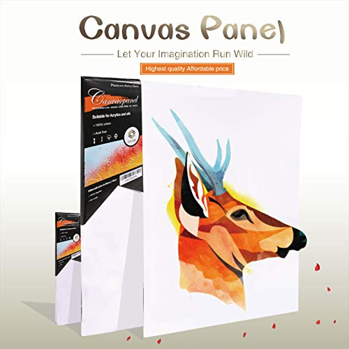 conda Professional Artist Canvas Panels 9×12 inches(Package of 12)