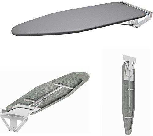 uyoyous Tabla de planchar, montaje en pared, plegable, 90 grados hacia abajo, ahorra espacio, L1070 mm x W300 mm x H35 mm