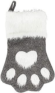 TOOGOO Christmas Stocking Sock Santa Claus Candy Gift Bag Xmas Tree Hanging Decor Gray