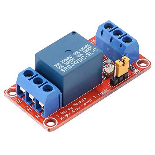 Módulo de Relé de 1 Canal con la tarjeta de expansión del disparador de bajo nivel del optoacoplador para Arduino 5V / 12V / 24V(24V)