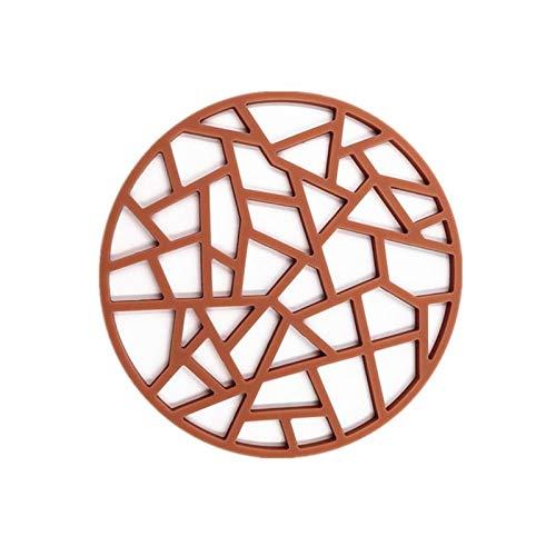 FXBXYLQ Portavasos, Matetas Resistentes a los Patines de Silicona de 4pc Placems Lavables para la Mesa de Comedor para protección de Mesa (Color : Brown)