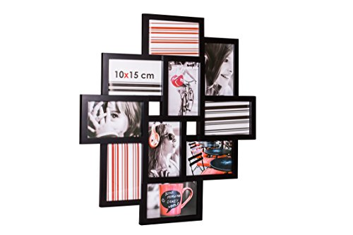 Basics Cadre photo 10 x 15 cm Noir Lot de 2