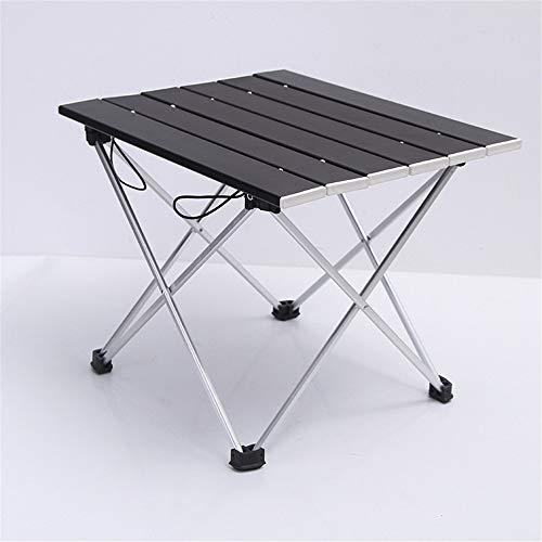 Nuoyi en Plein air Table Compact en Aluminium Table Pliante Camping Portable Table De Barbecue Portable Multi-Fonction Ultra-Léger Mini Table De Pique-Nique avec Sac De Rangement,Black