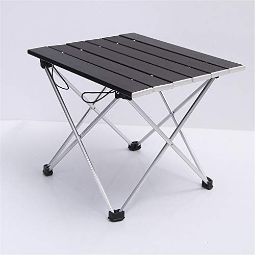 Nuoyi en Plein air Table Compact en Aluminium Table Pliante Camping Portable Table De Barbecue Portable Multi-Fonction Ultra-Léger Mini Table De Pique-Nique avec Sac De Rangement,Black