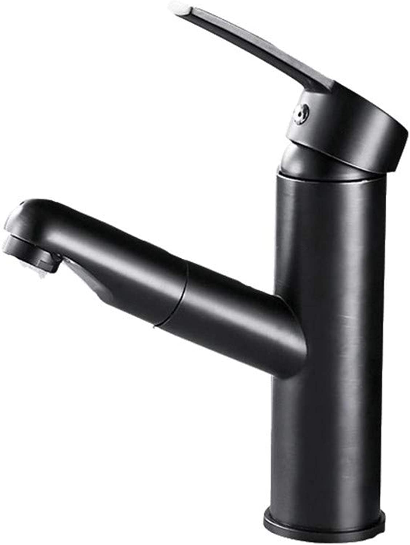 CTREKE Becken Wasserhahn Spüle Mischer Bad Wasserhahn warm und kalt ziehen Einhand A1