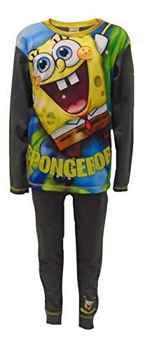 Jungen Schlafanzug Spongebob Schwammkopf Grau 4 bis 10 Jahre Patrick Squidward...