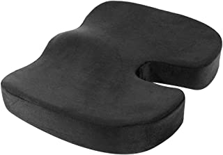 NOVIMED Orthopedic Coccyx Cushion for Comfortable Driving with Ergonomic Memory Foam Ideal for Office, Gaming Chair Seat -...