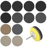 FXJJHXZP 180pc 1/3 Pulgada 60-10000 Grit Sandpaper Sanding Disc Dry Seco Seco Hojas de lijadora con Almohadilla de Lijado Set de Lijado abrasivo (Color : 3 Inch 75mm)