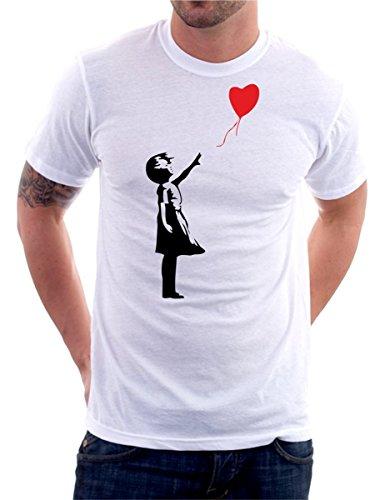 t-Shirt Banksy - Bambina Palloncino Cuore Che vola - Balloon Baby Heart - S M L XL XXL Maglietta by tshirteria