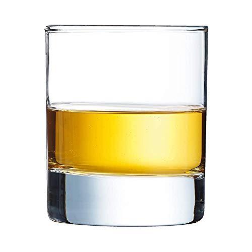Arcoroc, glas, isalde, meerweg, voor whisky, rond, 200 ml, 7 x 8,3 cm (6 stuks), je ontvangt 1 verpakking à 6 stuks