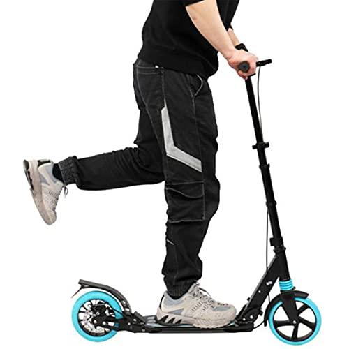 Scooter para adultos, ligero y plegable, con manillar ajustable, freno trasero, scooter, soporte de 99 kg
