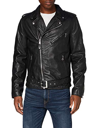 Schott NYC Lc1150wx Chaqueta de cuero, negro, Large para Hombre