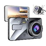 SHENGY 4'IPS LCD Dual Dash Cam Avant et arrière 1080P + 720P Tableau de Bord...