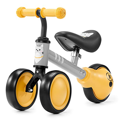 Kinderkraft Bici senza Pedali CUTIE, Bicicletta in Metallo, Sella Regolabile, Ultraleggero Triciclo, da 1 Anno, Giallo