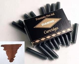 Diamine Refills Saddle Brown Pack of 18 Fountain Pen Cartridge - DM-8046