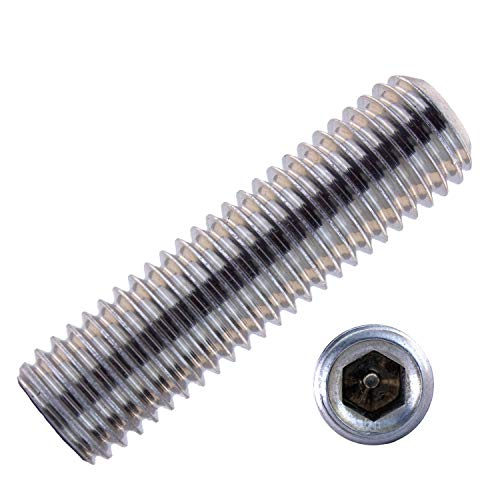 Gewindestifte mit Innensechskant u. Kegelkuppe M6x12 mm aus Edelstahl A2 (50 Stück) | DIN 913 - Madenschrauben - Wurmschrauben von MESAROS®