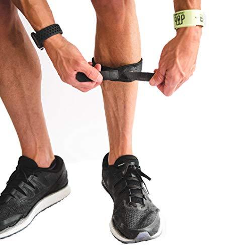 CROSSTRAP Shin Splint Support Strap | Adjustable Neoprene Shin Splint & Leg Compression Support Strap for Strains, Injuries, Pain, Pulled Muscles, Torn Calf | for Men & Women | 1 Strap (Large)