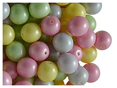 30pcs Tchèque pressé perles de verre, perles d'imitation, taille 8 mm, couleur: Baby Mix Pastel