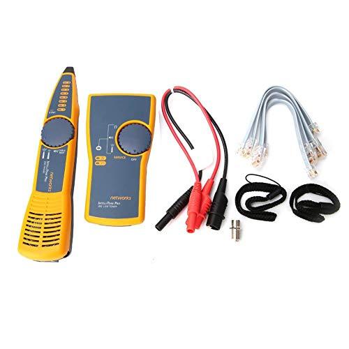 Digital Networks Cable Tester MT-8200-60-KIT Intelligent Audio Cable Toner Probe Kit Multifunctional Line Finder Toner Tracer Measuring Instrument for Continuity Checking